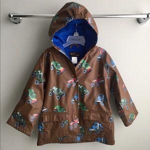 Toddler Monster Truck lines raincoat 3T